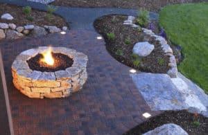Paver Pato with Stone Fire Pit - Rye Brook, NY