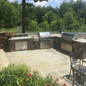 Custom-Stone-Outdoor-Fireplace